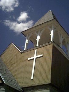 cross outside chapel